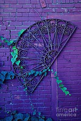 Photograph - Rod Iron And Purple by Natalie Ortiz