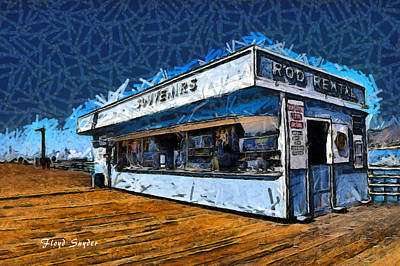 Photograph - Rod Rental At The Pismo Beach Pier Digital Painting by Floyd Snyder