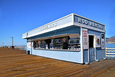 Art Print featuring the photograph Rod Rental At The Pismo Beach Pier by Floyd Snyder