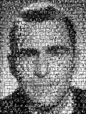 1960s Mixed Media - Rod Serling Twilight Zone Mosaic by Paul Van Scott