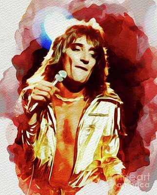 Music Royalty-Free and Rights-Managed Images - Rod Stewart, Music Legend by John Springfield