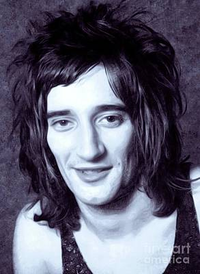 Music Royalty-Free and Rights-Managed Images - Rod Stewart, Music Legend by Mary Bassett