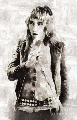 Musicians Royalty Free Images - Rod Stewart, Musician Royalty-Free Image by Esoterica Art Agency