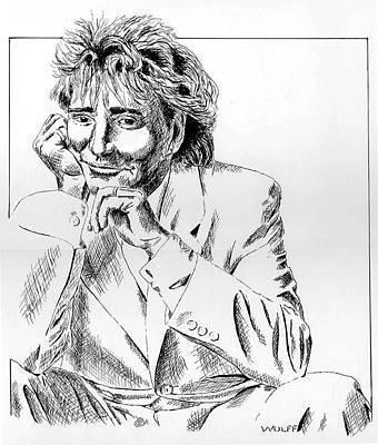 Rod Stewart Art Print by Vincent Wolff