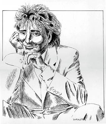 Rod Stewart Art Print