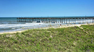Photograph - Avon Pier - Outer Banks Of North Carolina by Brendan Reals