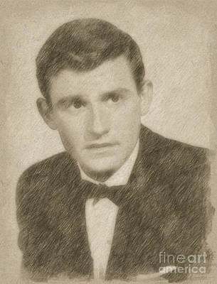 Fantasy Drawings - Roddy McDowall, Actor by Frank Falcon