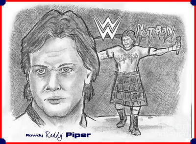Roddy Piper Art Print by Chris  DelVecchio
