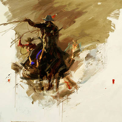 Painting - Rodeo 13 by Maryam Mughal