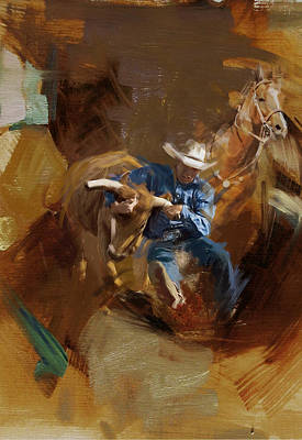 Chicago Oil Painting - Rodeo 17 by Maryam Mughal