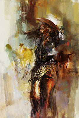 Chicago Oil Painting - Rodeo 20 by Maryam Mughal