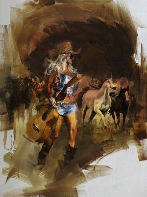Painting - Rodeo 28 by Maryam Mughal