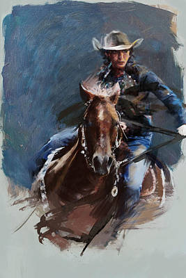 Painting - Rodeo 34 by Maryam Mughal