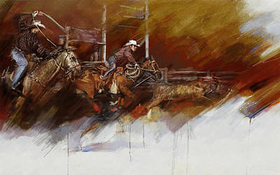 Chicago Oil Painting - Rodeo 36 by Maryam Mughal