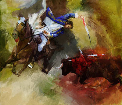 Painting - Rodeo 43a by Maryam Mughal