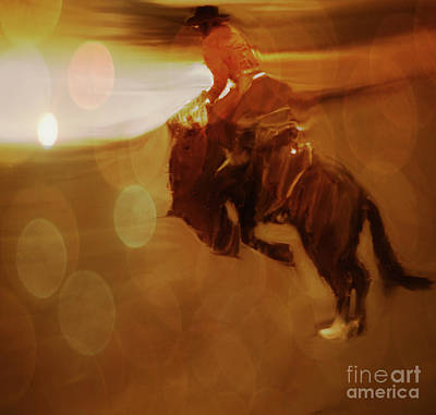 Photograph - Rodeo Abstract by Al Bourassa