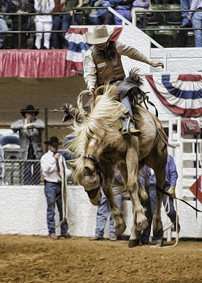 Cowboy Hat Photograph - Rodeo Air Time by Stephen Stookey