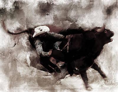 Rodeo Art Original by Gull G