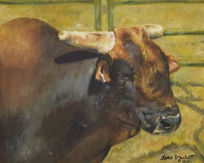 Painting - Rodeo Bull 1 by Lori Brackett
