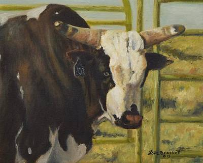 Painting - Rodeo Bull 4 by Lori Brackett