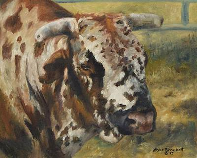 Painting - Rodeo Bull 7 by Lori Brackett