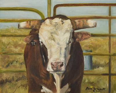 Painting - Rodeo Bull 8 by Lori Brackett