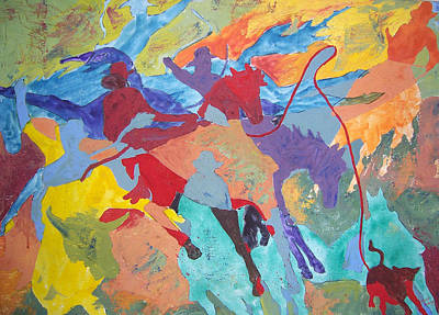 Wall Art - Painting - Rodeo by Cheryl Bishop