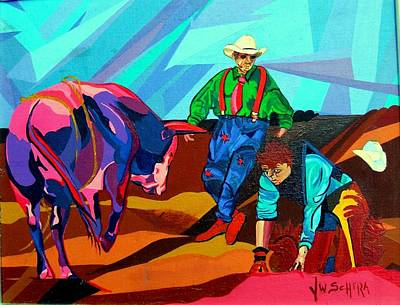 Rodeo Clown Painting - Rodeo Clown by Jamie Winter
