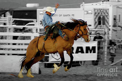 Photograph - Rodeo Cowboy In Blue by Toula Mavridou-Messer