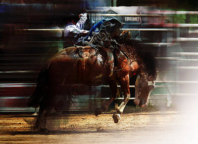 Roping Horse Painting - Rodeo Days by Mark Courage