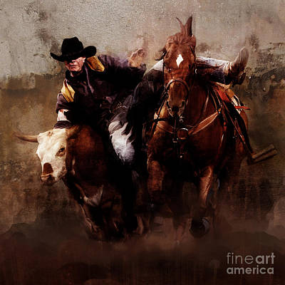 Palomino Horse Painting - Rodeo by Gull G