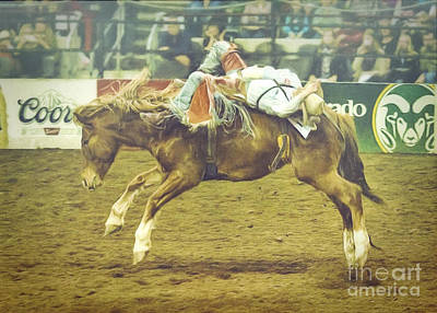 Bronc Painting - Rodeo Moments by Janice Rae Pariza