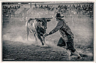 Photograph - Rodeo Monochrome by LeeAnn McLaneGoetz McLaneGoetzStudioLLCcom
