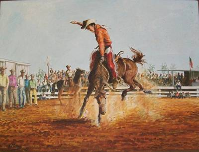 Painting - Rodeo by Perrys Fine Art