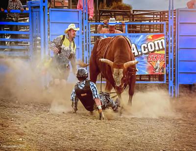 Photograph - Rodeo Rider Down by LeeAnn McLaneGoetz McLaneGoetzStudioLLCcom