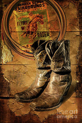 Photograph - Rodeo Rider by John Anderson