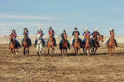 Cowboy Hat Photograph - Rodeo Team Riders by Todd Klassy