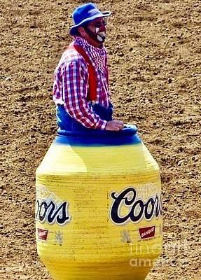 Photograph - Rodeo Time Clown  by Susan Garren
