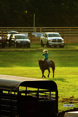 Photograph - Rodeo Warm Up by Jeff Kurtz
