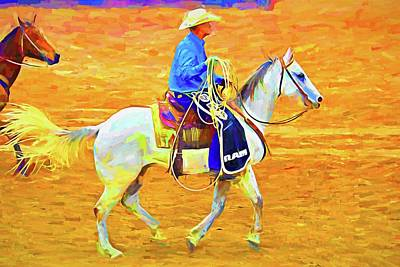 Photograph - Rodeo Wrangler by Alice Gipson