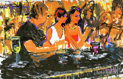 Painting - Rodger, Annie And Jennifer by Candace Lovely