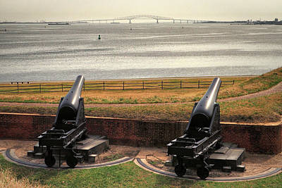 Photograph - Rodman Cannons At Fort Mchenry National Monument And Historic Shrine by Bill Swartwout Fine Art Photography