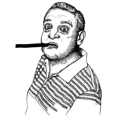 Person Drawing - Rodney Dangerfield by Karl Addison