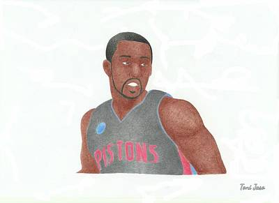 Drawing - Rodney Stuckey by Toni Jaso