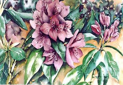 Rododendron Time Art Print by Marta Styk