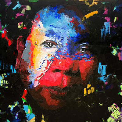 Abstract Oil Painting - Rodrigo Duterte by Richard Day