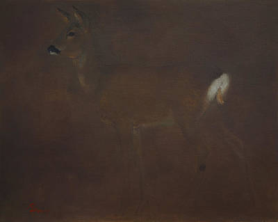 Painting - Roe Deer by Attila Meszlenyi