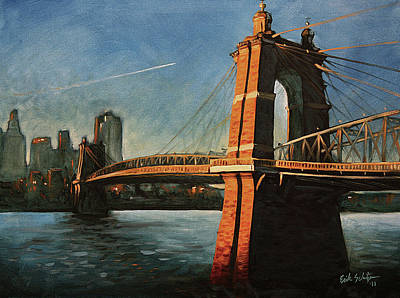 Roebling Bridge Painting - Roebling Bridge No.1 by Erik Schutzman