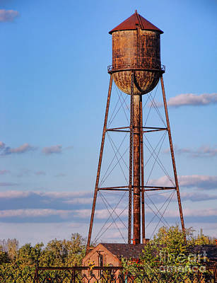 Photograph - Roebling Steel Mill Water Tower by Olivier Le Queinec
