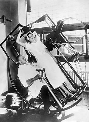 Roentgen X-ray Machine Art Print by Underwood Archives